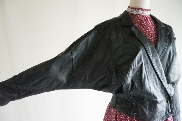 Made In Canada Leather Dolman Jacket