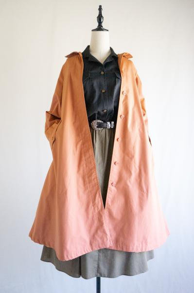 Light orange Back tack Flare Coat