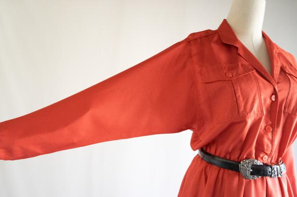 Leslie Fay Red Open Dress