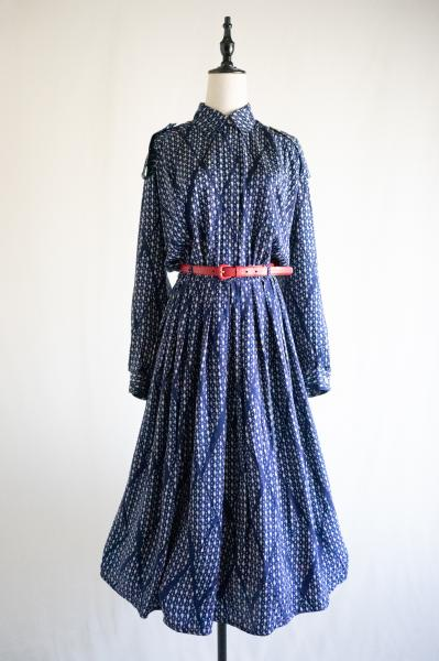 Drop×Diamond check Silk Dress