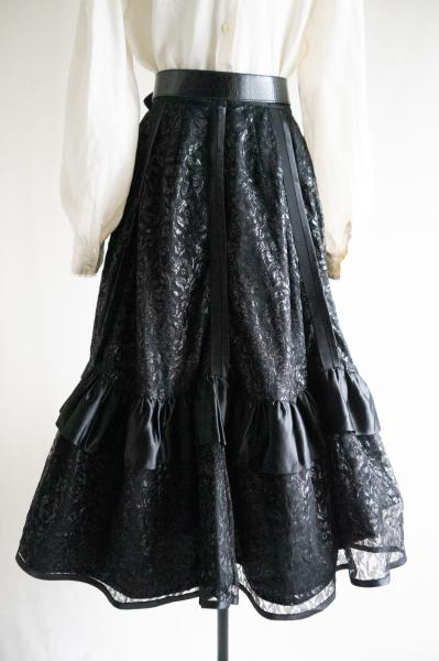 Made In France Black Lace Volume Skirt