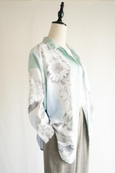 Made In France Flower×Yacht Watercolor Blouse