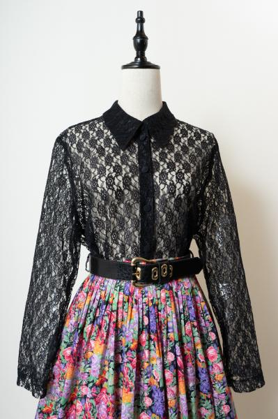 Black All Lace Blouse