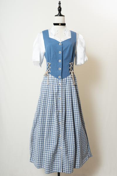 Made In Euro Lace up Combination Tyrol Dress