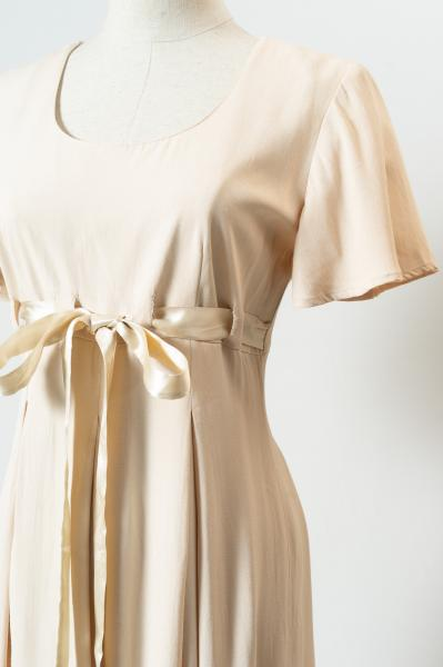 Nudi beige Flare sleeve All in one