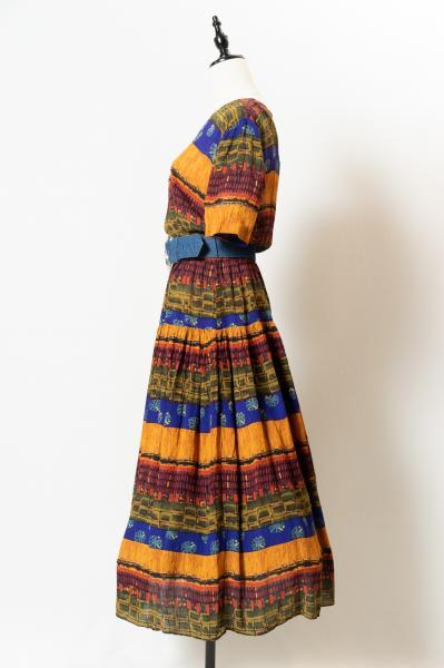 Ethnic Design Border Dress