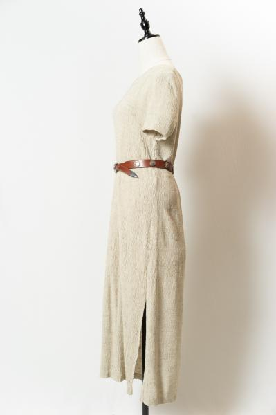 Crinkle Natural slit Dress