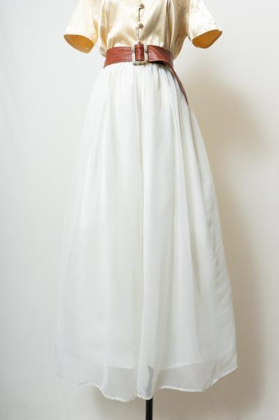 White Sheer Wide Pants