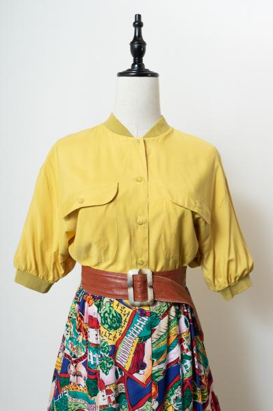 Made In Euro Jacket Like Yellow Blouse