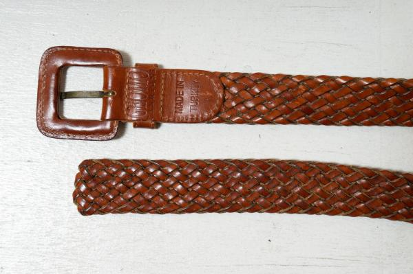 Brown Mesh Leather Belt