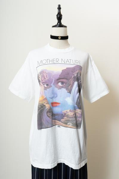 MOTHER NATURE print White T-shirt
