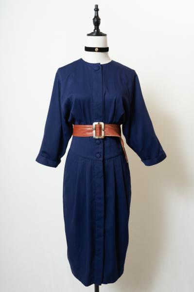 Front opening Navy Dress