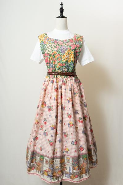 Flower Pattern Country Over Dress