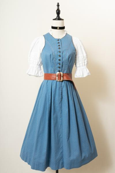 Made In Euro Small Flower Pastel blue Tyrol Dress