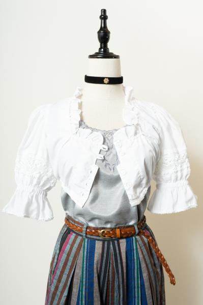 Made In Euro Lace Design Short Tyrol Blouse