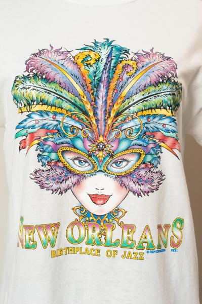 NEW ORLEANS JAZZ Print White T-shirt