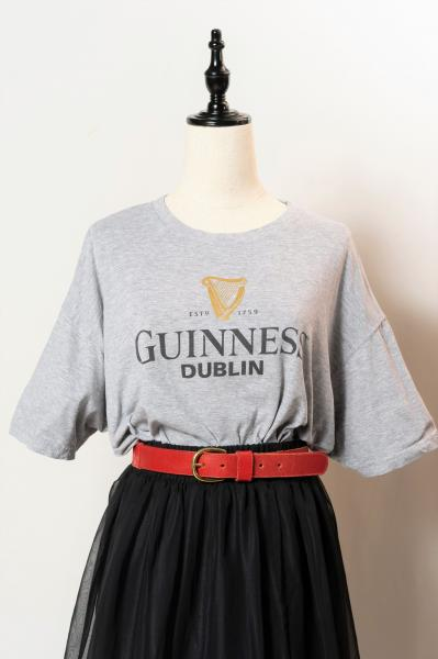 GUINNESS Print Gray T-shirt