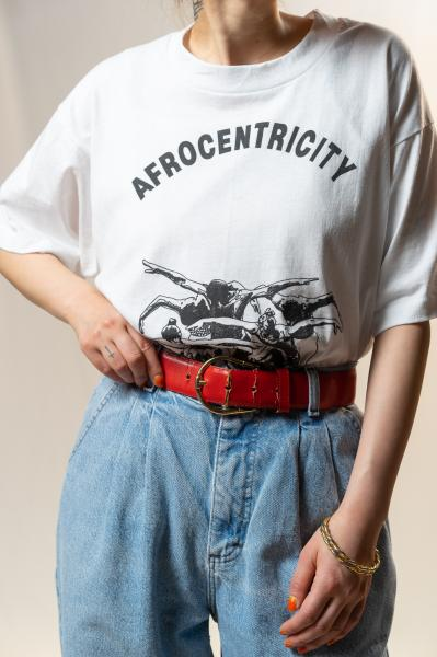 90's AFROCENTRICITYプリントTシャツ