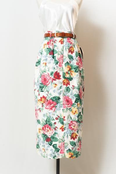 Dead stock Flower Tight Skirt