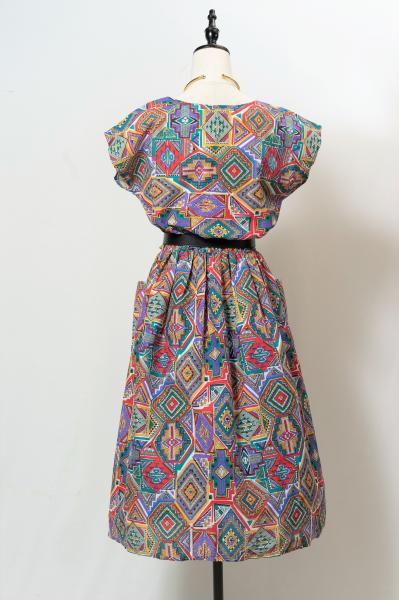 Made In France Art Native Pattern Dress