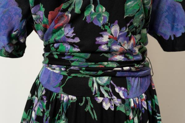 Art Flower Cache-coeur ribbon Design Dress