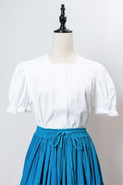 Made In Euro Puff Sleeve White Blouse