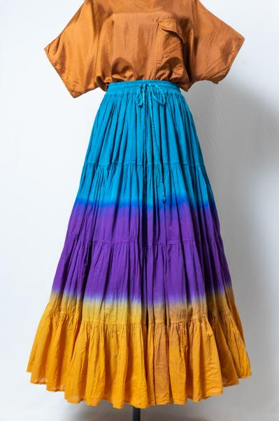 Tie-dye Tiered Maxi Skirt