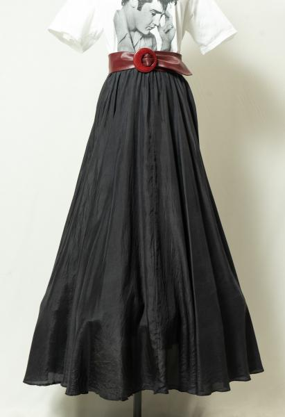 Made In Euro Black Silk Skirt