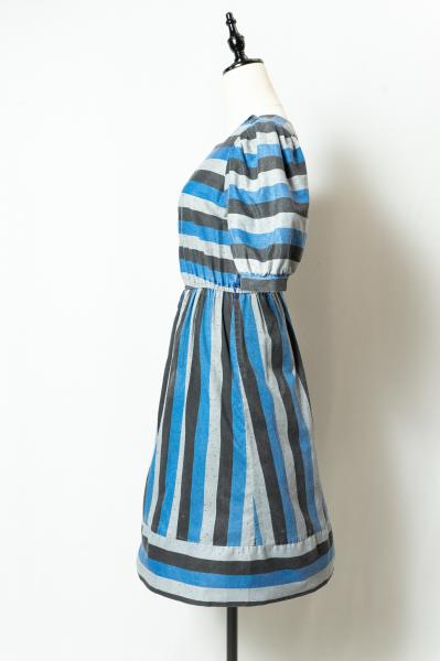 Border×Stripe Mix Dress
