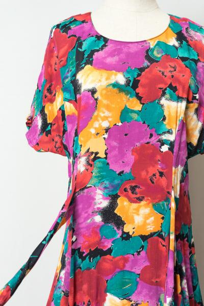 Art Flower Flare Dress