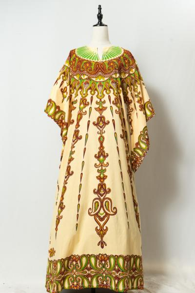 Damask Like Pattern Ethnic Dress