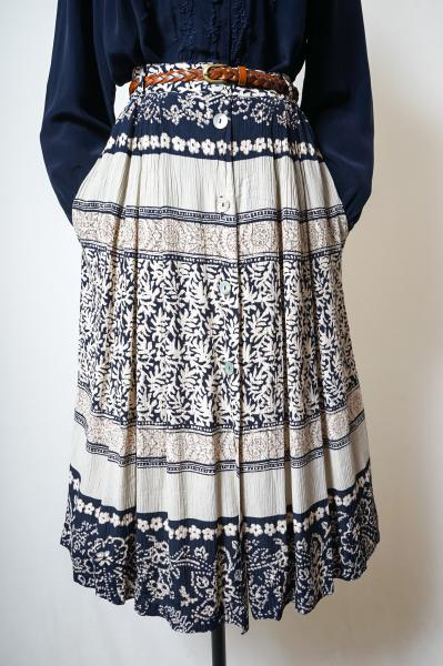 Made In Euro Multi Botanical Ethnic Skirt