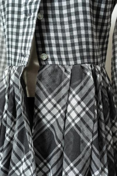 70's Gingham Check Maxi Dress
