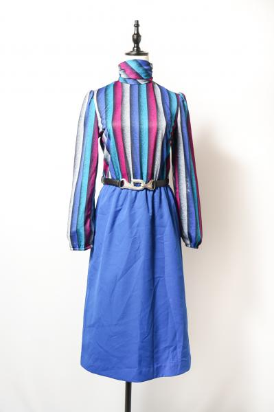 Stripe×Blue Combination Dress