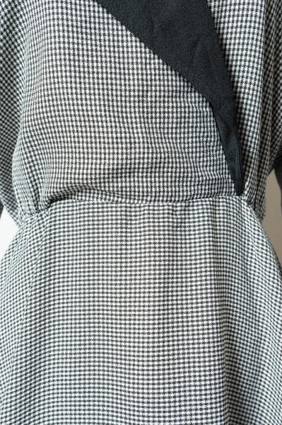 80's Gingham Check Flare Dress