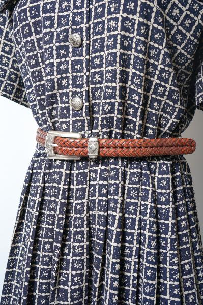 BRIGHTON Concho Design Mesh Leather Belt
