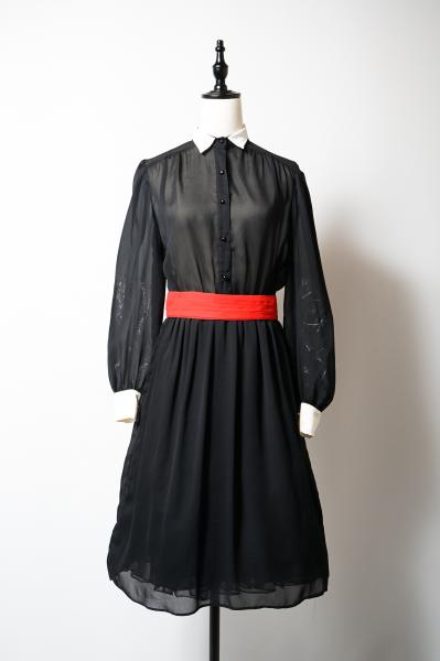 Black Sheer Cleric Dress