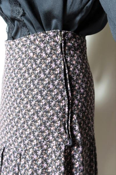 Made In Euro Small Flower Maxi Skirt