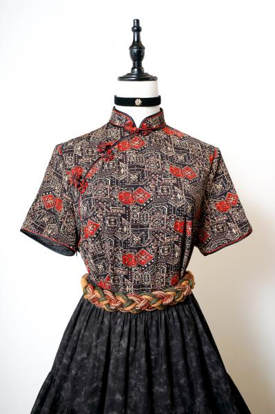 Geometric Like Pattern China Blouse