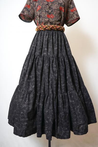 Chemical Design Black Tiered Skirt