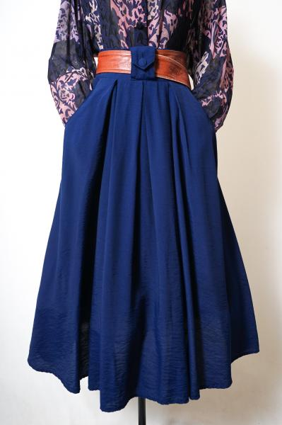 Made In France Navy Tuck Skirt