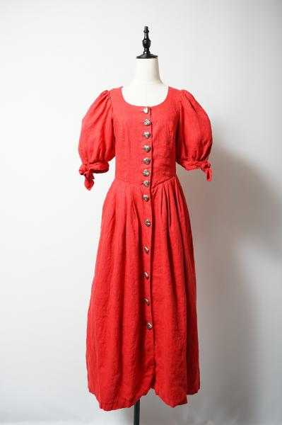 Made In Euro Heart Concho Red Tyrol Dress