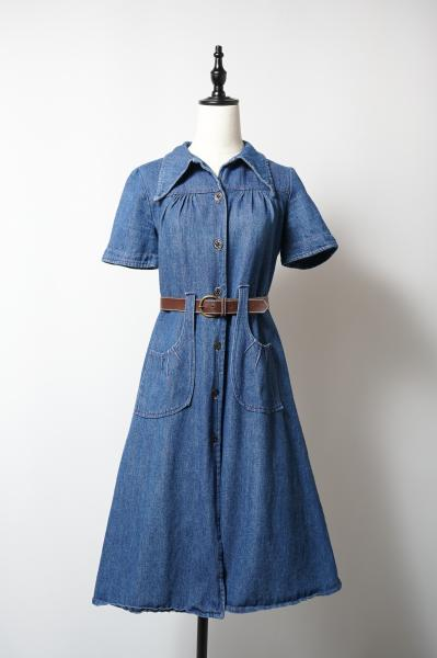 Made In Euro Tuck Denim Dress