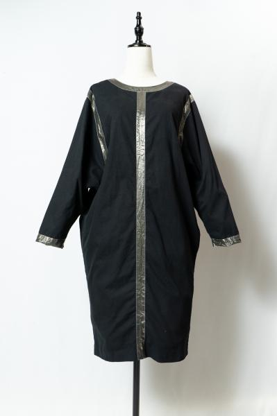 Silver Line Cocoon Black Dress