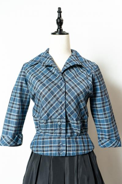 50's Blue Check Jacket