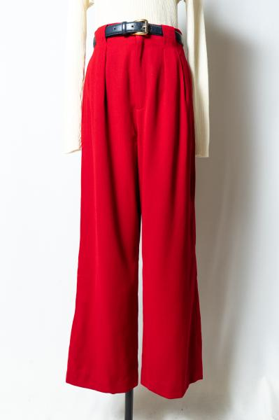 Red Tuck Pants