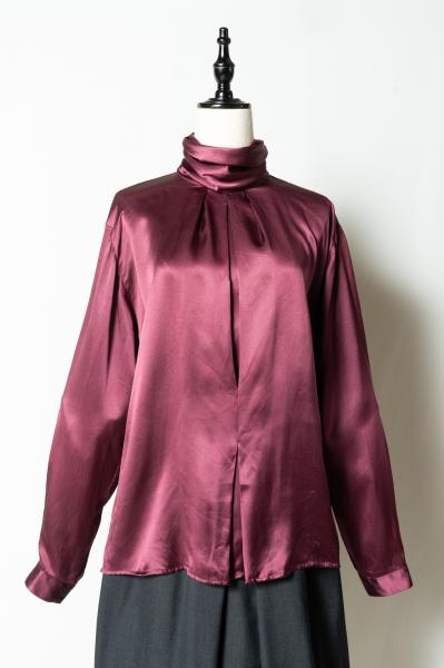 Off Turtle neck Silk Blouse