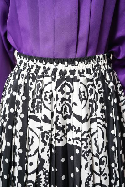 Rose Motif×Dot Pattern Monotone Skirt