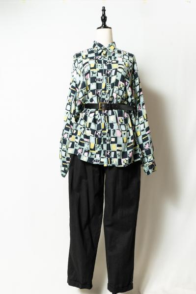Made In Euro Tile Art Pattern Blouse