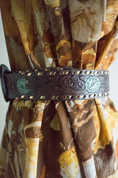 MARY Carving Leather Belt